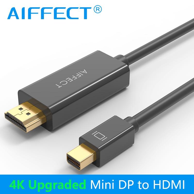Thunderbolt para HDMI 1080 P 4 AIFFECT K 30Hz 1.8 m Mini DP para HDMI Cabo Adaptador para Macbook pro Ar Câmera Projetor TV