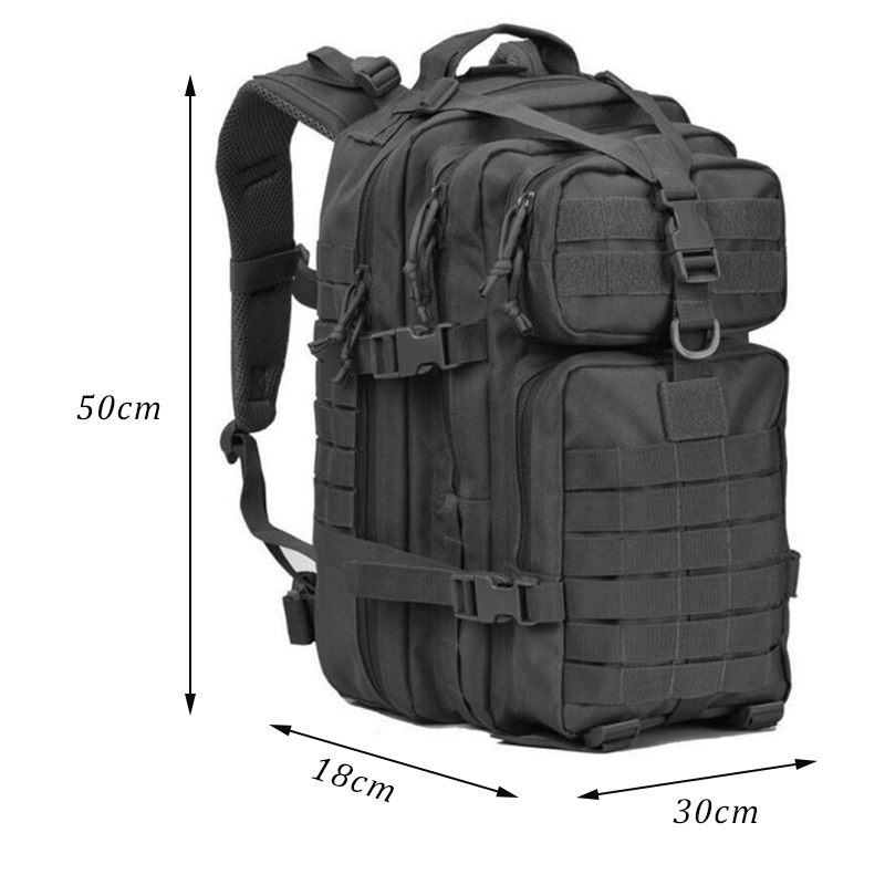Military Tactical Backpack Large Army 3 Day Assault Pack Waterproof Molle Bug Out Bag Rucksacks Outdoor Hiking Camping Hunting 5