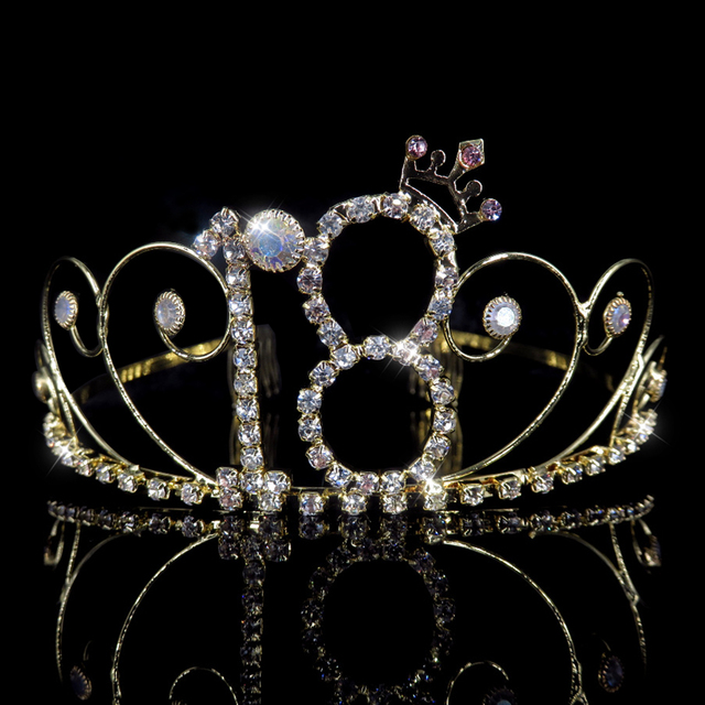 Boy And Girl 16 18 Years Olds Birthday Crown Adult Ceremony Headdress Wedding Party Hair