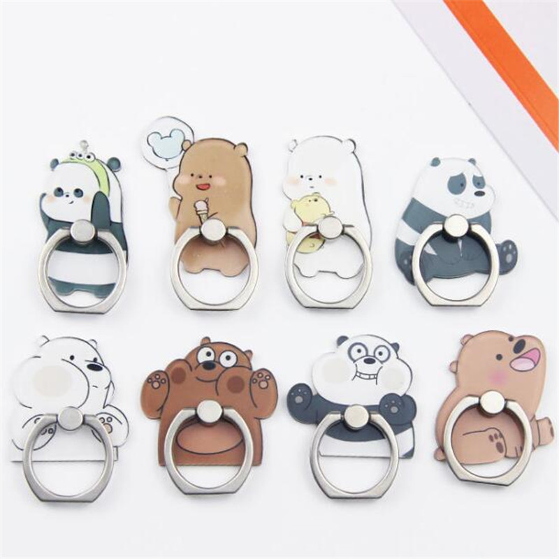 UVR Moblile Phone Holder Stand Finger Ring Accessories Cute Bear Panda For Iphone 8 XS X 7 Plus CellPhone Universal
