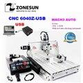 ZONESUN IncludeTax en russie! CNC routeur 6040Z-USB 4 axes Mach3 Machine de gravure automatique interface USB avec broche 1.5KW VFD