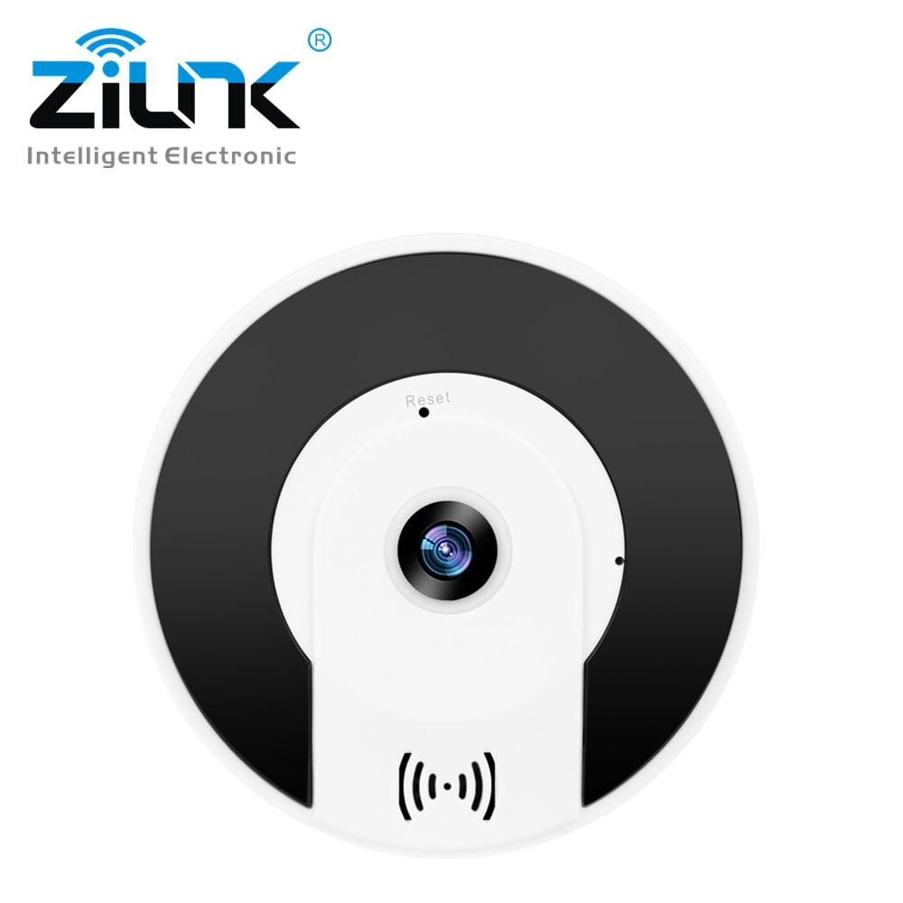 ZILNK WIFI IP Camera 1080P HD 360 Degree Wireless Camera 960P Panoramic Fisheye Home Security CCTV Video Surveillance SD Card цена