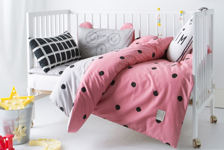 3Pcs Cotton Crib Bed Linen Kit Cartoon Baby Bedding Set Includes Pillowcase Bed Sheet Duvet Cover Without Filler стоимость
