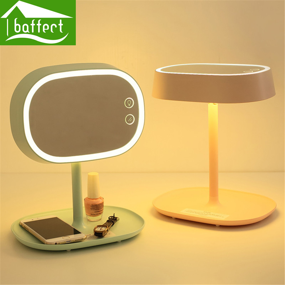 Baffect Colorful LED Light Wall mounted Folding Cosmetic Mirror ...