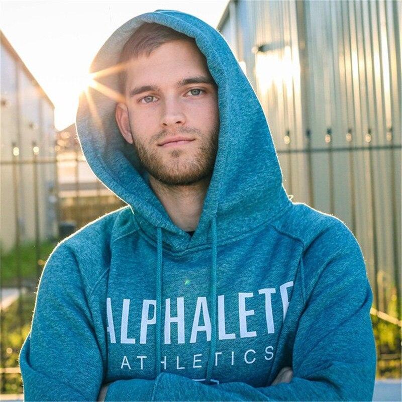 Design; 2018 Neue Heiße Männer Hoodies Sweatshirts Hohe Qualität Alphalete Druck Hoodie Fitness Bodybuilding Marke Kleidung Baumwolle 3 Farbe Novel In