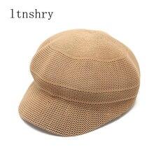 2019 Summer Hats For Women Sun Hat Korean Beret Cap Sunshade Sunscreen Straw Hat Female Beach Hat Chapeu Feminino Mesh Cap New цена
