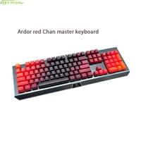 Gaming CK104 Wired Machine Keyboard New Design Metallic Mechanical Keyboard Red Light LED Backlit Anti Ghosting