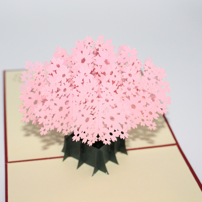 Japanese romantic cherry blossoms Valentine's day birthday greetings 3D greeting cards hollow cards 30pcs in one postcard take a walk on the go dubai arab emirates christmas postcards greeting birthday message cards 10 2x14 2cm