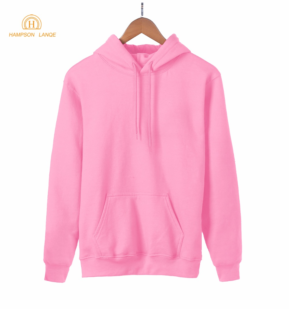 2019 Hot Sale Spring Kawaii Blank Women Sweatshirt Kpop Solid Hoodies Warm Fleece Harajuku Hooded Black White Gray Pink Red Blue
