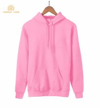 2019 Hot Sale Spring Kawaii Blank Women Sweatshirt Kpop Solid Hoodies Warm Fleece Harajuku Hooded Black White Gray Pink Red Blue(China)