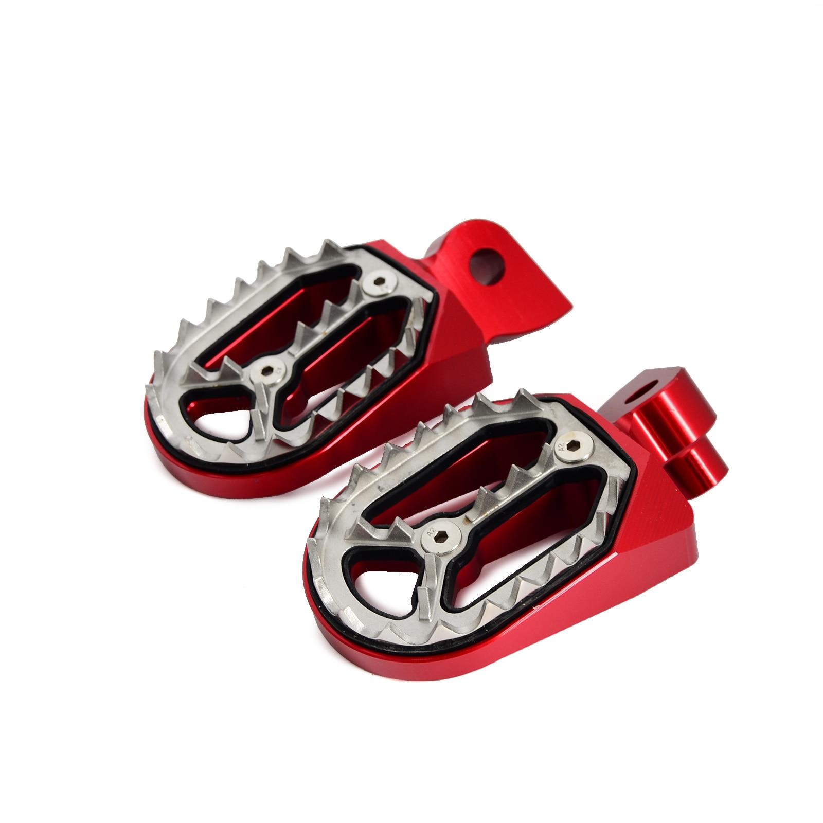 Pro-Bite Wide Foot Pegs Rests Footrests Footpegs Shark Teethn Kit For Gas Gas EC 50 250 300 450 Range 1997-2015 Etc Dirt Bikes