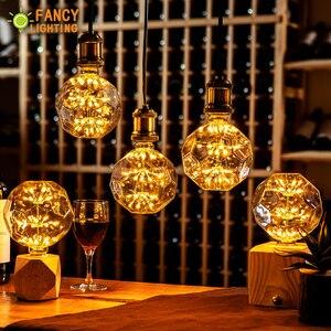 Image 3 - Led lamp E27 FootBall Starry Sky led light bulb 110V 220V Dimmable lampada led for home/living room/bedroom decor bombillas led
