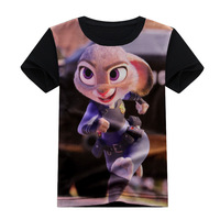 Zootopia Newest Children T Shirt Boys T-Shirts Zootropolis Kids TShirt Boy Clothing Tees Shirts 2-10Years Cotton Tops