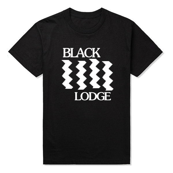 Black lodge Flag T-shirt Mens Twin Peaks T Shirt Men Accept Customized Cotton Streetwear Cosplay Shirts Tops Tees