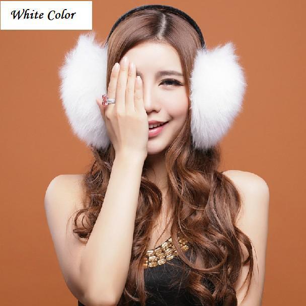 winter earmuff white womens