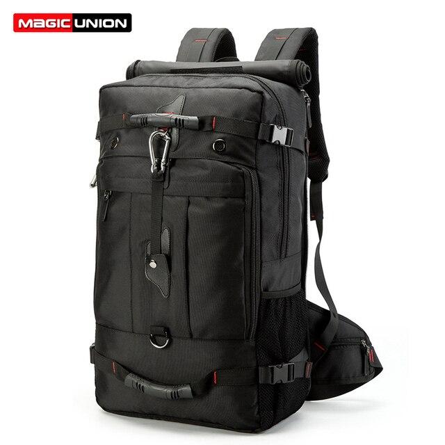 MAGIC UNION 20 inch Men Backpack Travel Bag Large Capacity Versatile Utility Mountaineering Multifunctional Waterproof Backpacks