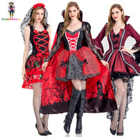 Deluxe Halloween Sexy Adult Women Vampire Costumes Victorian Vamp Fancy Party Dress Witch Female Costumes Zombie Uniforms