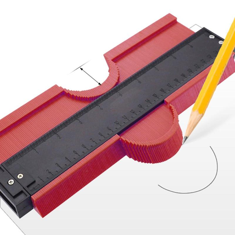 5/6/10 zoll Kunststoff Profil Kopie Gauge Kontur Messer Werkzeug Duplizierer Fliesen Standard Holz Kennzeichnung Werkzeug Fliesen kontur Meter