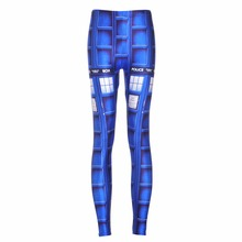 NEW 3582 Sexy Girl Women Doctor Who Tardis Police Box 3D Prints Running Jogging Elastic GYM Fitness Sport Leggings Yoga Pants