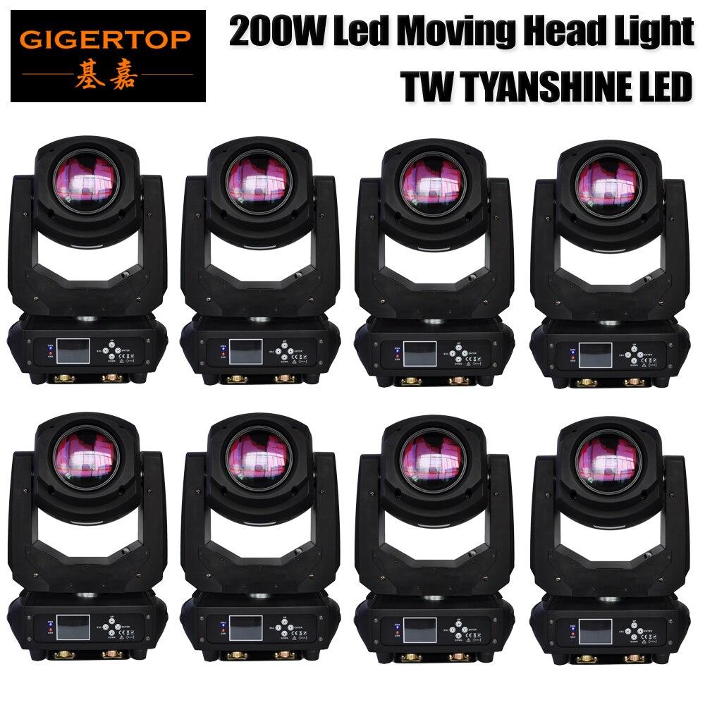 Discount 8 unit 200W Stage Led Moving Head Light TW Tyanshine Disco Party Light Pan 540 Tilt 270 DMX512 Control China Supplier