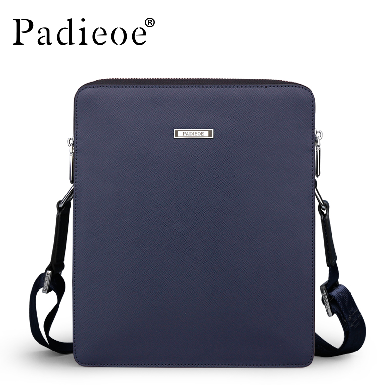 Padieoe Top Quality Split Cow Leather Shoulder Bag Famous Brand Men's Messenger Bags Luxury Designer Male Crossbody Bag Handbags padieoe famous brand shoulder bag genuine cow leather crossbody bag classic designer messenger bag high quality male bags