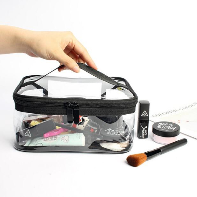 Women's Transparent PVC Cosmetic Bag Waterproof Makeup Case Organizer Storage Bag Packing Cubes Travel Wash Toiletry Pouch