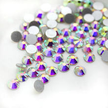 2018 New arrival Crystal AB Non hot fix Nail Rhinestones Crystal swarovsky  gold champange Loose Strass for Nails Decorations d478643971da
