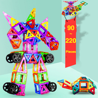 Standard Size 90 220Pcs Magnetic Designer Construction Set Model Building Toy Magnetic Blocks Educational Toys For