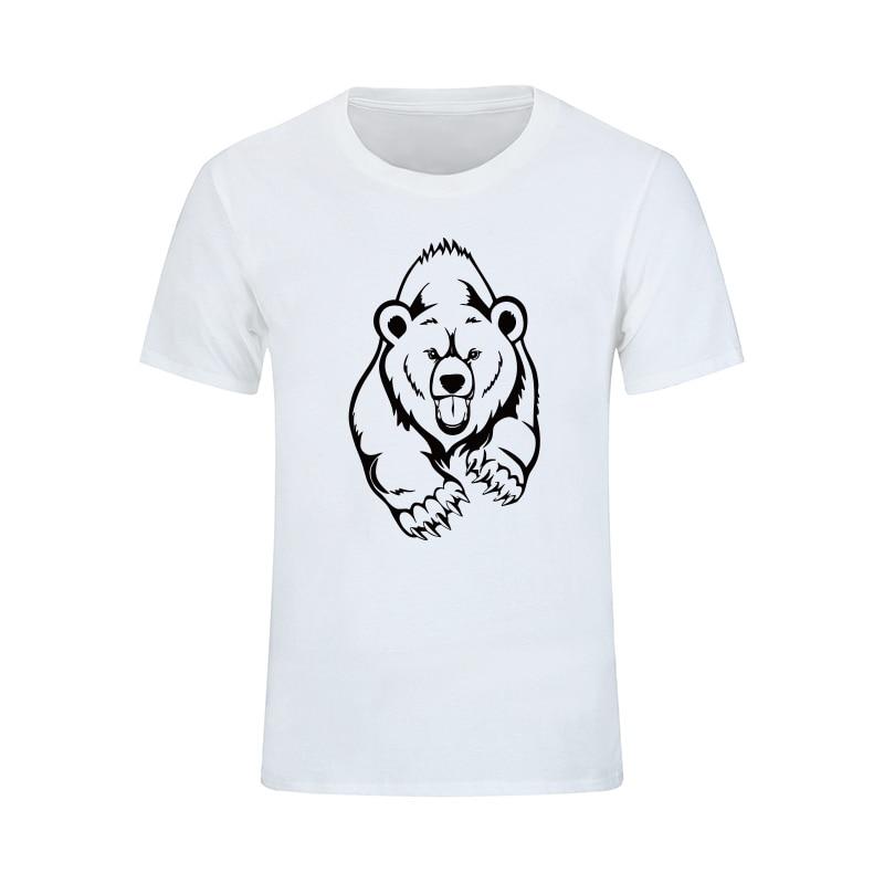 NUEVA Llegada Verano Grizzly Camiseta Hombre Oso Marrón Estampado - Ropa de hombre - foto 1