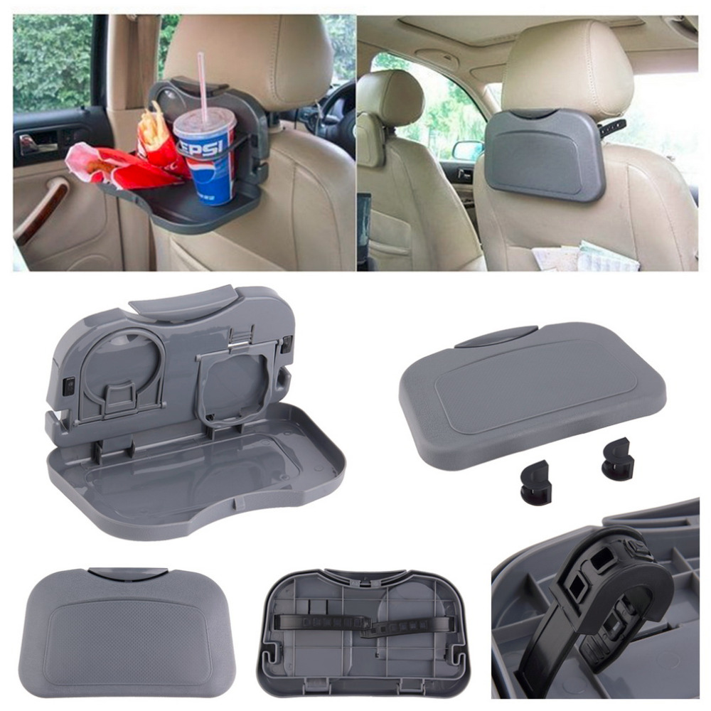Car Tray Food Car Stand Rear Seat Beverage Rack Water Drink Holder Bottle Travel Mount Accessory Foldable Meal Cup Desk Table ne