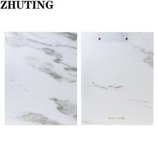 Marble Pattern PP A4 File Information Folder Document Holder Business Briefcase for Office School Students Gifts Supplies kicute 1pcs high quality black pu leather binder conference folder document bag business briefcase office school supplies gifts