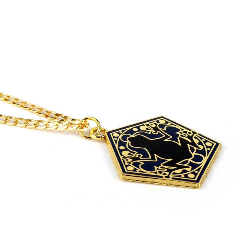 Hogwarts escola hp sapo de chocolate ouro metal pingente chaveiro colar chaveiro corrente ornamento cosplay coleção jóias presente-30