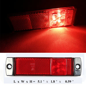 Image 5 - 2 قطعة AOHEWEI 12 V 24 V LED الأحمر الجانب ماركر مؤشر ضوئي موقف led مصباح ضوء إشارة ل الذيل ضوء مقطورة ضوء led شاحنة