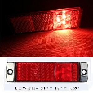 Image 5 - 2 sztuk AOHEWEI 12 V 24 V LED czerwony boczne kontrolka pozycji lampa led znak światła do światła tylnego przyczepy światła led ciężarówka