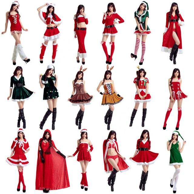 20 Arten Frauen Weihnachten Sexy Weihnachtsmann Kostüme Mädchen ...
