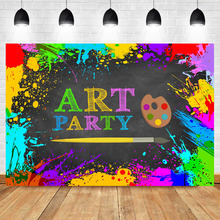 NeoBack Art Party Backdrop Graffiti Wall Abstract Photography Background Kids Portrait Pencil Happy Birthday Photo Backdrops