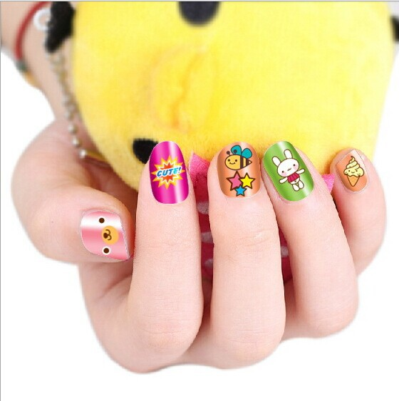 2016 Newest cartoon kids child nail art stickers free shipping nail ...