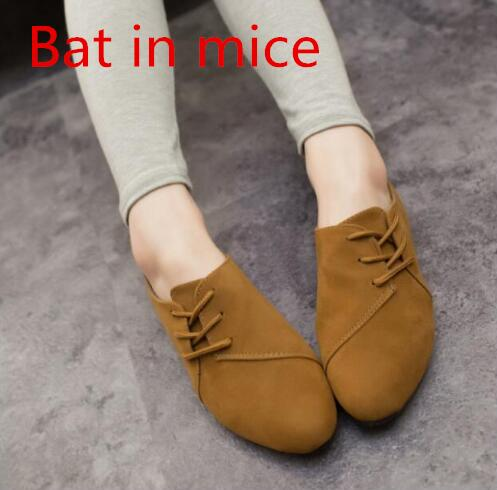 Bat in mice With a shallow mouth shoes college retro England Oxford small leather shoes flat bottom pointed low-heeled shoes