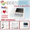 Contec 12-Channel 12 Plomo ECG/de ECG Electrocardiógrafo, el Análisis En Tiempo Real NUEVO