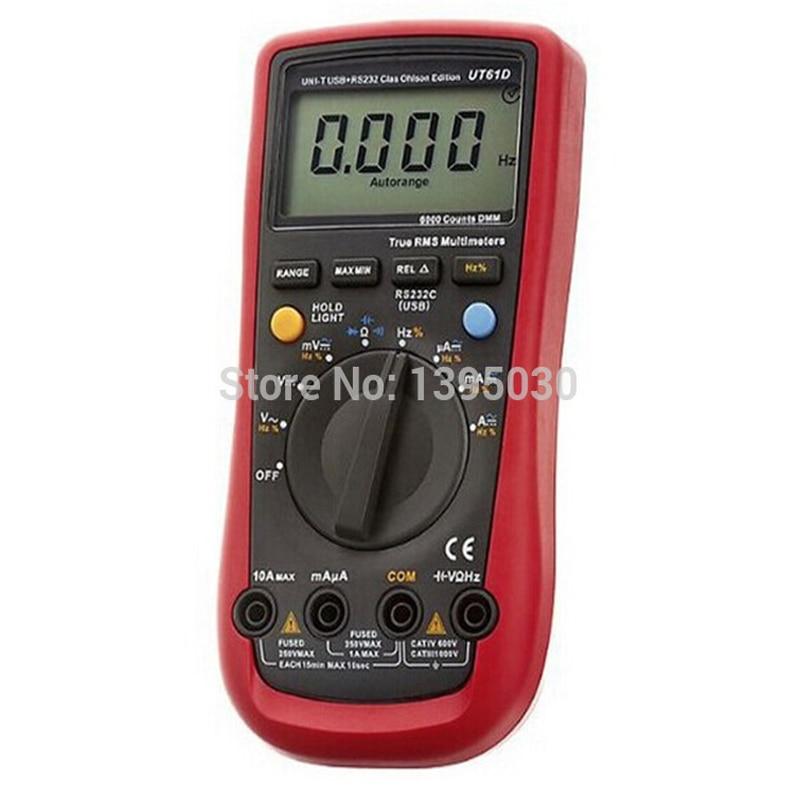 ФОТО 30pcs/lot UT-61D True RMS Auto Range Digital Multimeter Modern Digital Multimeters ACDC Meter CD Backlight