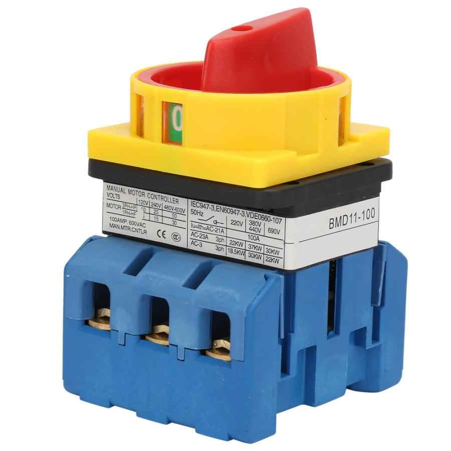 voltage relay 80A/100A Load Circuit Breaker Switch 3-Pole 2-Position Rotary Cam On-Off Power Switch disjoncteur.