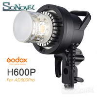 В наличии Godox H600P Flash Head Bowens Mount Off flash ручной удлинитель для Godox WITSTRO AD600Pro AD600 Pro Flash Strobe