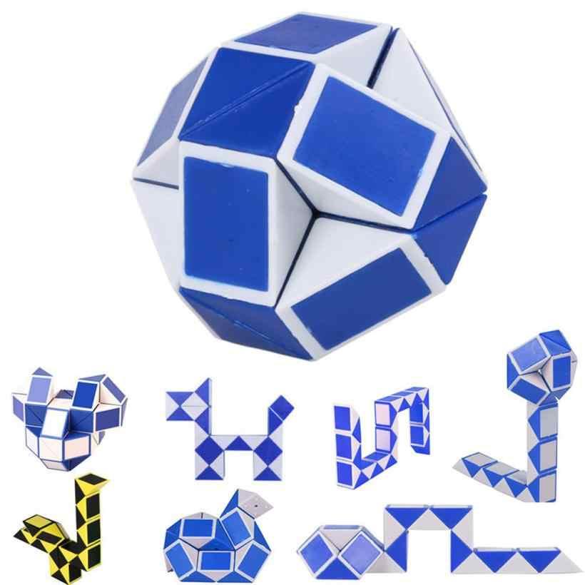 Сегменты волшебной крутая змея волшебное разнообразие Популярная Твист детская игра трансформируемый подарок головоломка для Детские игрушки Детские 2sw0809