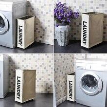 Quadro de ferro wasmand suja lavanderia balde dobrável com rodas armazenamento organizador cesta estreita grade cesto ropa sucia