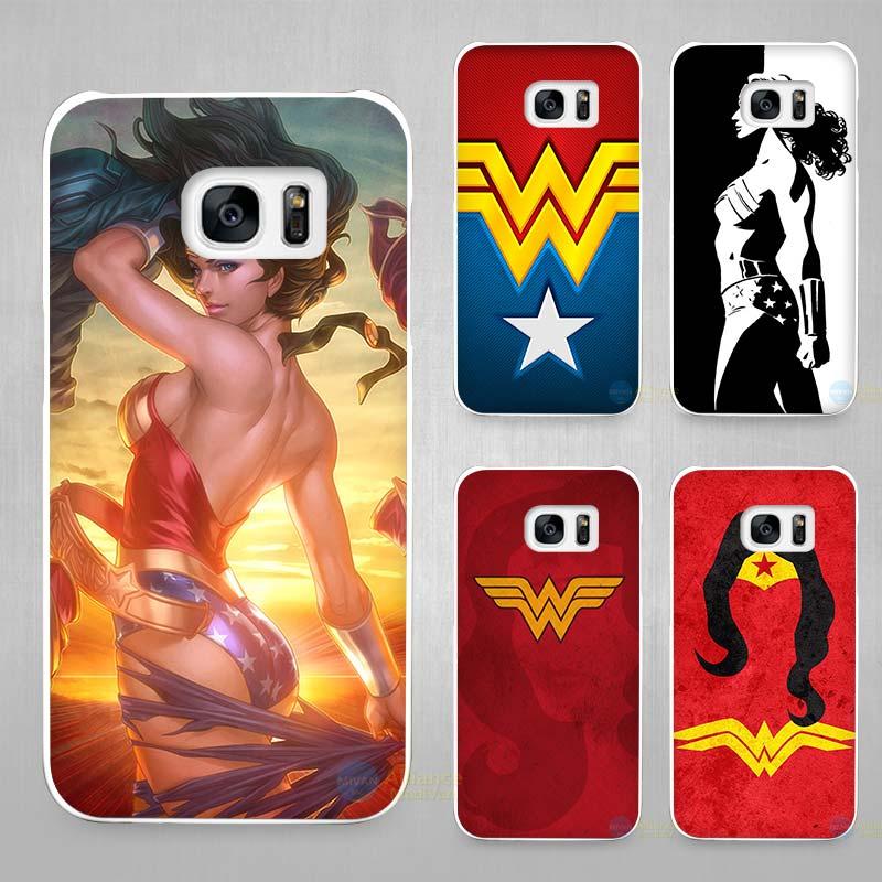 Wonder Woman Жесткий Белый Coque В виде ракушки чехол Телефонные Чехлы для Samsung Galaxy S4 S5 S6 S7 Edge Plus