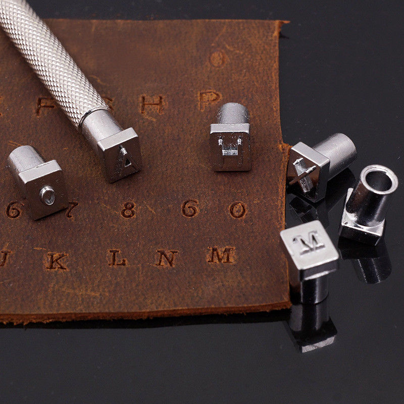 36 Pcs Leather Alphabet & Number Embossing Stamp Punch Set Leather Wood Craft Tool