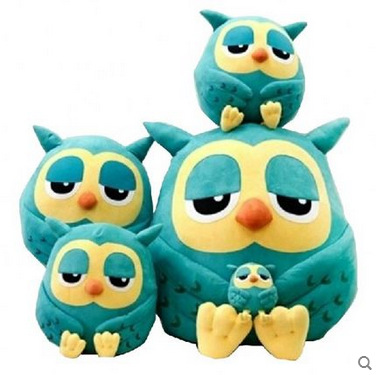 Cartoon Owl <font><b>Cushion</b></font> Blanket <font><b>Cushion</b></font> Three In One Purpose Pillow Multi-function Blanket Plush Sofa Bed Home Car Hand Rest