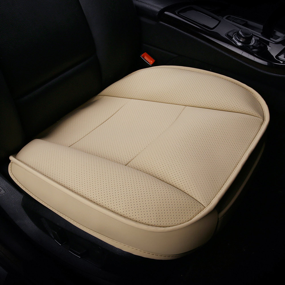 Deluxe Grey 1+1 PU Leather Front Seat Covers Cushion For Kia Hyundai