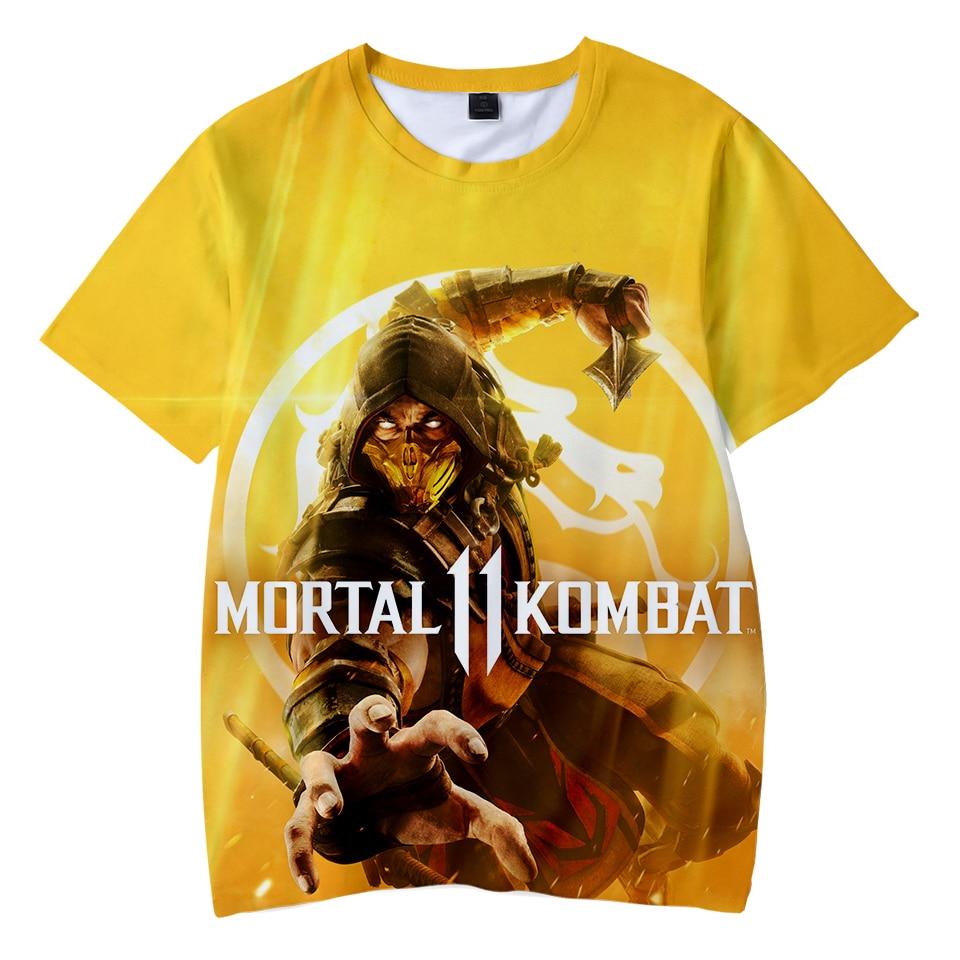 Children's T-shirt Mortal Kombat 11 T Shirt 3d Games Print Tee Shirt Wear Fashion Cool And Comfortable Tshirt For The Kids