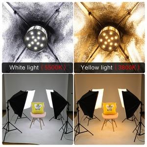 Image 5 - Foto Studio Rechthoek Fotografie Soft Box 8 Led 20 W Fotografische Verlichting Kit 2 Licht Stand 2 Soft box Carry tas voor Camera
